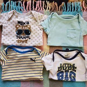 4 baby boy onesies